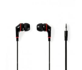 Écouteurs Filaires | Câble Plat de 1,2 m | Intra-Auriculaires | Noir