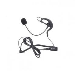 Écouteur Ecouteurs audio Avec Perche Micro 2.5 mm Interne Noir