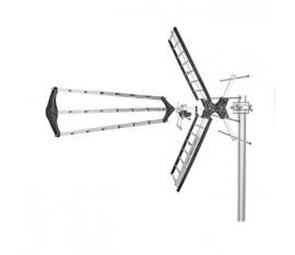 Antenne TV d'Extérieur | Gain Max. de 14 dB | VHF : 170 - 230 MHz | UHF : 470 - 790 MHz