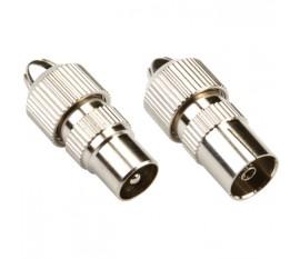 Connecteur IEC Mâle / Femelle Argent