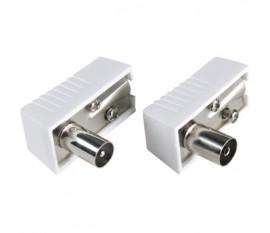 Connecteur IEC Mâle / Femelle Blanc