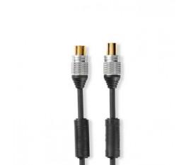 Câble Coaxial 90 dB | CEI (Coaxial) Mâle vers CEI (Coaxial) Femelle | 2,5 m | Anthracite