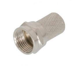Connecteur Fiche F 5.5 mm Mâle Argent