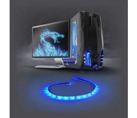 Barre Lumineuse LED de Jeu   Bleu   50 cm   Alimentation SATA   Ordinateur de Bureau