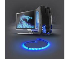 Barre Lumineuse LED de Jeu   Bleu   40 cm   Alimentation SATA   Ordinateur de Bureau
