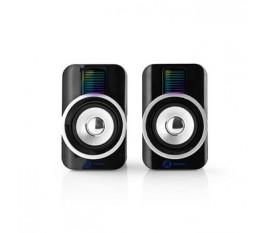 Haut-parleurs de jeu | 2.0 | RGB | Alimentation par USB | prise 3,5 mm | RMS 10 W