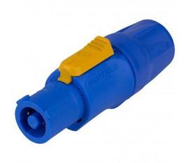 Connecteur Haut-parleur Power Plug Mâle PVC Bleu