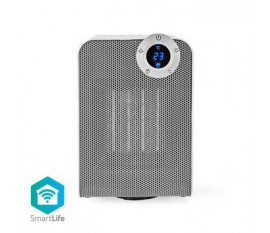 Radiateur soufflant Wi-Fi intelligent | Compact | Thermostat | Oscillation | 1 800 W | Blanc