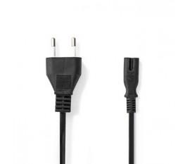 Câble d'Alimentation | Prise Italienne - CEI-320-C7 | 2,0 m | Noir