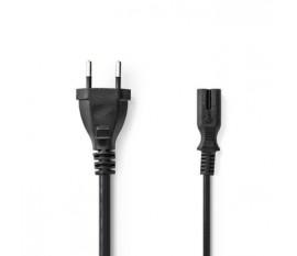 Câble d'Alimentation | Prise Suisse - CEI-320-C7 | 2,0 m | Noir