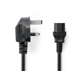 Câble d'Alimentation | Fiche Mâle de Type G (R-U) | IEC-320-C13 | 2,0 m | Noir