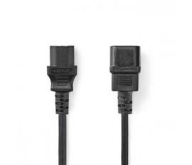 Câble d'Alimentation | CEI-320-C13 | CEI-320-C14 | 2,0 m | Noir
