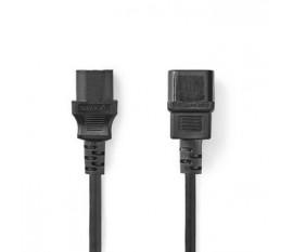 Câble d'Alimentation | CEI-320-C14 - CEI-320-C13 | 2,0 m | Noir