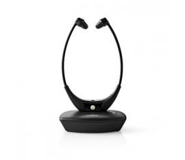 Écouteurs Sans Fil | Radio Fréquence (RF) | Supra-Auriculaire | Socle de Recharge | Noir