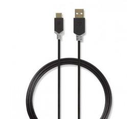 Câble USB 2.0   Type-C Mâle - A Mâle   1,0 m   Anthracite
