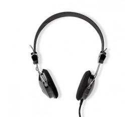 On-Ear Headphones Wired | 3.5 mm | Longueur de corde: 1.10 m | Noir