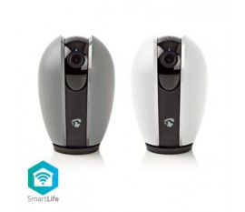 Caméra intérieure SmartLife | HD 720p | Cloud / Micro SD | Vision nocturne | Android™ & iOS | Wi-Fi | Gris/Blanc