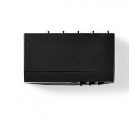 Commutateur Audio Analogique | 4x (2x RCA stéréo femelle) - 1x RCA stéréo femelle + sortie casque femelle | noir