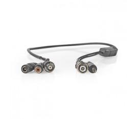 Microphone pour Caméra de Sécurité CCTV | BNC + CC vers BNC + CC + RCA