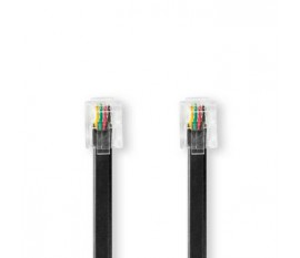 Câble de Télécommunication | RJ11 Mâle | RJ11 Mâle | 2,0 m | Noir