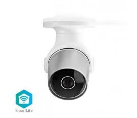 Caméra extérieure SmartLife | Full HD 1080p | IP65 | Cloud / Micro SD | 12 VDC | Fonctionnalité d'enregistrement dans le cloud | Vision nocturne: 15 m | Android™ & iOS | Wi-Fi | Blanc/Argent