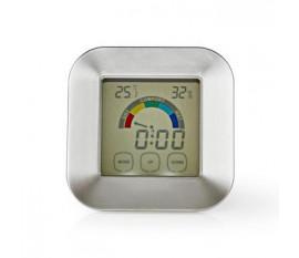 Hygromètre   Thermomètre   Heure   Écran tactile