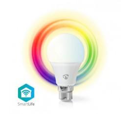 Ampoule SmartLife toute couleur | B22 | 470 lm | 6 W | Blanc Chaud / Dimmable Blanc / RGB | RGB + 2700 K | Classe énergétique: A+ | Android™ & iOS | Wi-Fi | Diamètre: 60 mm | A60