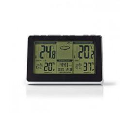 Staion météo | Intérieur et extérieur | Y compris capteur météo sans fil | Prévisions météorologiques | Écran LCD rétro-éclairé | Avec affichage de l'heure | Incluant la fonction de réveil