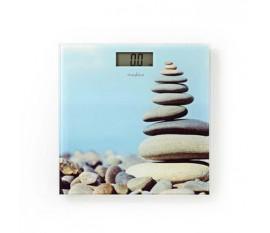 Pèse personne numérique | Numérique | Design Imprimé | Verre trempé | Capacité de pesée maximale: 150 kg