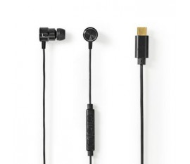 Écouteurs Filaires   USB-C™   Longueur de corde: 1.20 m   Microphone intégré   Contrôle du Volume   Noir