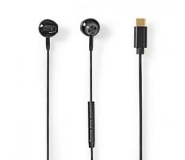 Écouteurs Filaires   USB-C™   Longueur de corde: 1.20 m   Microphone intégré   Support de commande vocale   Contrôle du Volume   Noir