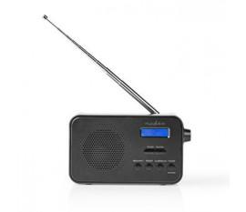 """Radio DAB +   Conception portable   DAB+ / FM   1.3 """"   Écran bleu noir   Alimenté par pile   Numérique   3.6 W   Sortie casque   Réveil   Minuterie de sommeil   Noir"""