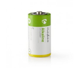 Piles alcalines C | 1.50 V | Alcaline | C / MN1400 / MX1400 / 14A / 8000 | Nombre de batteries: 2 pièces | blister | LR14 | Divers | Vert/Jaune