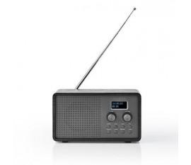 """Radio DAB +   Conception de table   DAB+ / FM   1.3 """"   Écran noir blanc   Alimenté par pile   Numérique   4.5 W   Réveil   Noir"""