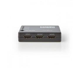 Commutateur HDMI | 5 Ports | 5 Entrées HDMI | 1 Sortie HDMI | 1080p | ABS | Anthracite | Coffret
