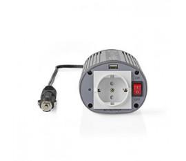 Onduleur d'alimentation modifiée onde sinusoïdale   Tension d'entrée: 24 VDC   Connexion (s) de sortie d'alimentation de l'a: 1   230 V ~ 50 Hz   150 W   Puissance de sortie maximale: 300 W   Type de boîte: F (CEE 7/3) / USB   Prise allume-cigare   Onde s