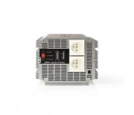 Onduleur d'alimentation modifiée onde sinusoïdale   Tension d'entrée: 24 VDC   Connexion (s) de sortie d'alimentation de l'a: 2   230 V ~ 50 Hz   2500 W   Puissance de sortie maximale: 5000 W   Type de boîte: Type E   bornier à vis   Onde sinusoïdale modi
