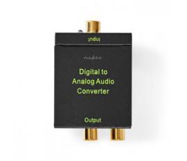 Convertisseur audio digital | Une voie | Entrée de connexions: 1x Digital RCA / 1x TosLink | Sortie de connexions: 1x (2x RCA) / 1x 3.5mm | Automatique | Amplificateur intégré | Noir
