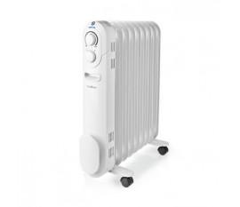 Radiateur mobile d'huile | 800 / 1200 / 2000 W | 9 Fins | Thermostat réglable | 3 Réglages de Chaleur | Protection contre les chutes