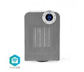 SmartLife Chauffage Soufflant | Wi-Fi | Compact | 1800 W | 3 Réglages de Chaleur | Oscillation | Afficher | 15 - 35 °C | Android™ & iOS | Blanc
