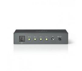 Commutateur Audio Optique | 4 ports - 4 Entrées Toslink | 1 Sortie Toslink