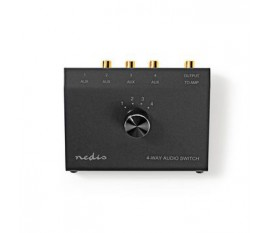 Commutateur Audio Analogique | 3,5 mm femelle + 3x (2x RCA femelle) - 2x RCA femelle | Noir