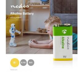 Pile Alcaline 9 V | 9.00 V | Alcaline | Bloc 9V / MN1604 / PP3 / 6F22 / 6LP3146 / 565 / 1604A | Nombre de batteries: 1 pièces | blister | 6LR61 | Jaune / Vert