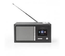 """Radio internet   Conception de table   Bluetooth® / Wi-Fi   FM / Internet   2.4 """"   Écran couleur   18 W   Télécommandé   Application contrôlée   Sortie casque   Réveil   Minuterie de sommeil   Noir"""