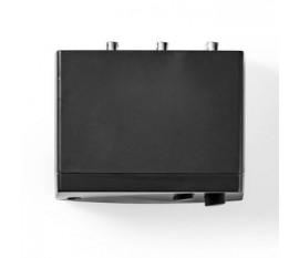 Commutateur Audio Analogique | 2 Entrées Stéréo RCA | 1 Sortie Stéréo RCA + Sortie Casque | Noir