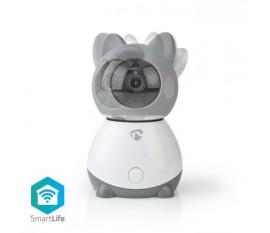 Caméra intérieure SmartLife   Wi-Fi   Full HD 1080p   Inclinaison du panoramique   Cloud / Micro SD   Avec capteur de mouvement   Vision nocturne   Android™ & iOS   Blanc / Gris