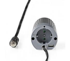 Onduleur d'alimentation modifiée onde sinusoïdale   Tension d'entrée: 12 VDC   Connexion (s) de sortie d'alimentation de l'appareil: 1   230 V ~ 50 Hz   100 W   Puissance de sortie maximale: 200 W   Type de boîte: F (CEE 7/3) / USB   Prise allume-cigare  