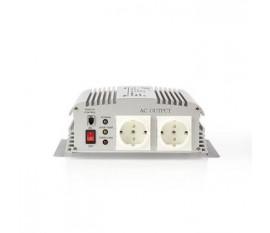 Onduleur d'alimentation modifiée onde sinusoïdale   Tension d'entrée: 24 VDC   Connexion (s) de sortie d'alimentation de l'appareil: 2   230 V ~ 50 Hz   1000 W   Puissance de sortie maximale: 2400 W   Type de boîte: F (CEE 7/3)   Pinces batterie   Onde si