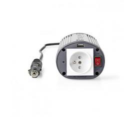 Convertisseur d'Alimentation à Onde Sinusoïdale Modifiée | 12 V c.c. - 230 V c.a. | 150 W | 1 Borne de Terre/1 Sortie USB