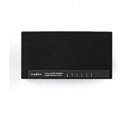 Commutateur réseau | 5 Ports | 1 Gbit/s | Lampes de Signalisation LED